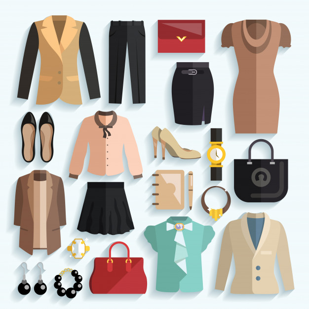 businesswoman clothes icons 1284 4139